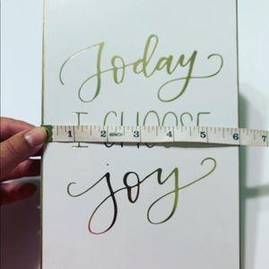 """Hobby Lobby Accents - Home Decor • """"Today I Choose Joy"""""""